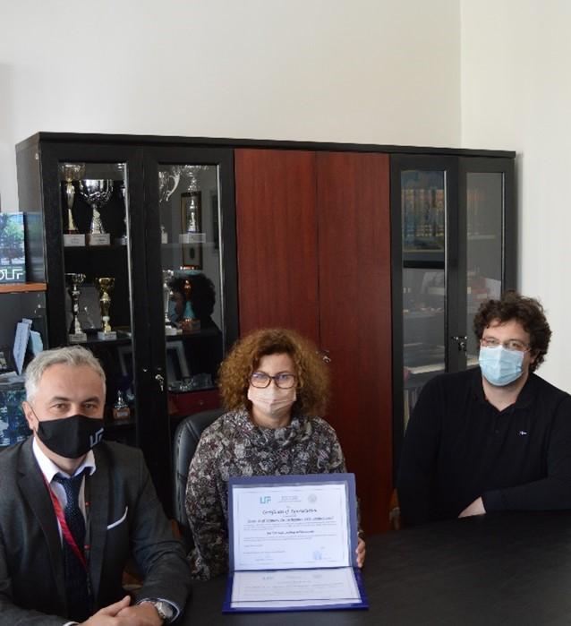 Svečano uručenje zahvalnice izv. prof. dr. sc. Tamari Turza-Bogdan